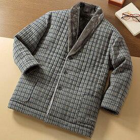 トロイ あったかソフトガウン 【裏ボア 部屋着 ルームウェア 羽織 毛布 のような暖かさ 半纏 防寒 メンズ 紳士 冬】【ギフト プレゼント】