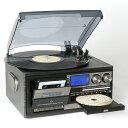 一体型マルチプレーヤー 【レコードプレーヤー カセットテープ ダビング デジタル化 USB 録音 スピーカー コンポ ラ…