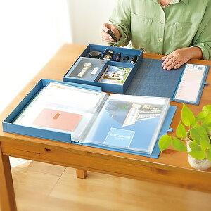 キングジム 自分まとめファイル - 小物 整理 整頓 便利 収納 書類 通帳 カード 診察券 印鑑 契約書 保証書 貴重品 ファイル 保管 AM2525 アオ