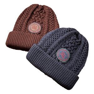 日本製 ウール混 ニットキャップ 2色組 - カジュアル シンプル ニット キャップ 2枚 セット 帽子 メンズ レディース 帽子 国産 ネイビー ブラウン element of SIMPLE LIFE