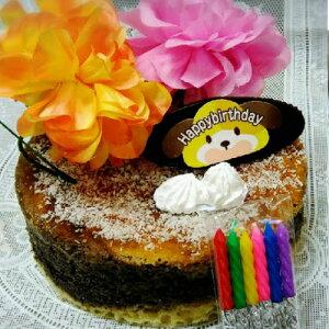 <お祝い用>[フラワー ジャーマン チーズケーキ]お子様が大好きなイチゴ/お誕生日のお祝いに!お好みのデコレーション/果物を飾っても良いですね/お正月手土産/クリスマスプレゼント