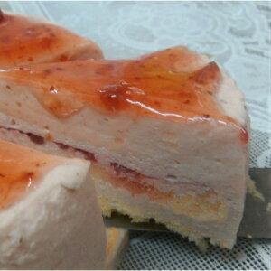 [イチゴ レアーチーズケーキ]お子様に大人気女性を初めお子様にも大変人気のイチゴのレアーチーズケーキです。贈り物、お誕生日祝いとして最適商品です。