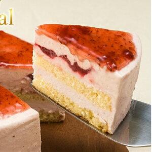 [ポイント10倍][ロイヤルストロベリーレアーチーズケーキ]イチゴの果肉入りで砂糖不使用甜菜糖使用の低カロリーチーズケーキです。ギフトとして最適商品です。