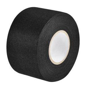 uxcell ワイヤーハーネステープ 布生地テープワイヤーハーネス 高粘度の自動車用 耐摩耗性 接着剤布生地テープ 50mm x 15m ブラック
