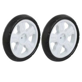 uxcell ホイール プラスチック製ブラック タイヤ 190mm径 8x25mm 二個入り
