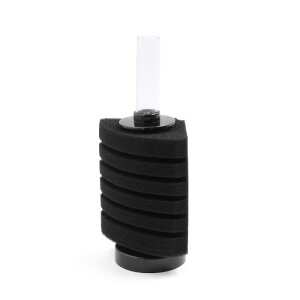 uxcell 水槽用スポンジフィルター 生化学スポン ブラック シリンダー 80L / 10GAL水槽用