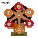 【期間限定\4500→\4000】(日本製)木製オルゴール付回転式フォトフレーム(キノコ) / オルゴール インテリア 木製 ギフト 出産祝い …