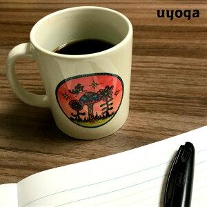 きのこ 雑貨 【uyoga × HAPPY PAINT】オリジナル マグカップ / ウヨガロゴ マグ コップ ティータイム 紅茶 お茶 コーヒー ギフト 食器 陶器 プレゼント マグ 大きい シンプル かわいい おしゃれ【