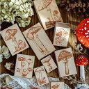 きのこ 雑貨 木製きのこスタンプ9個セット / スタンプ アンティーク 植物 キノコ アソート 付箋 手紙 手帳 印鑑 判子 ハンコ クラフト …
