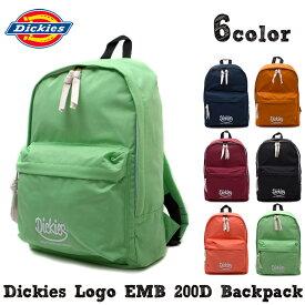 リュックサック Dickies ロゴ EMB 200 バックパック レディース メンズ ディッキーズ 正規品 大容量 マザーズバッグ 大人 リュック 通学 かわいい おしゃれ 高校生 通学 リュック ママバッグ
