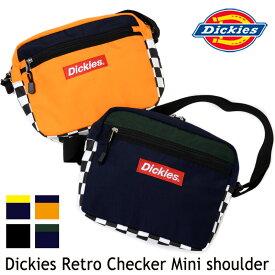 【メール便限定】ショルダーバッグ Dickies レトロチェッカー ショルダーバッグ 軽量 フェス レディース メンズ ミニバッグ ディッキーズ 斜め掛け 肩掛け 小さめ ボディバッグ