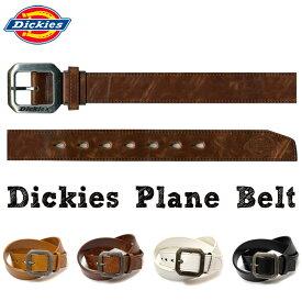 ベルト Dickies プレーンベルト 35mm カット可 ディッキーズ 合成皮革 メンズ ベルト アンティーク ロゴ バックル