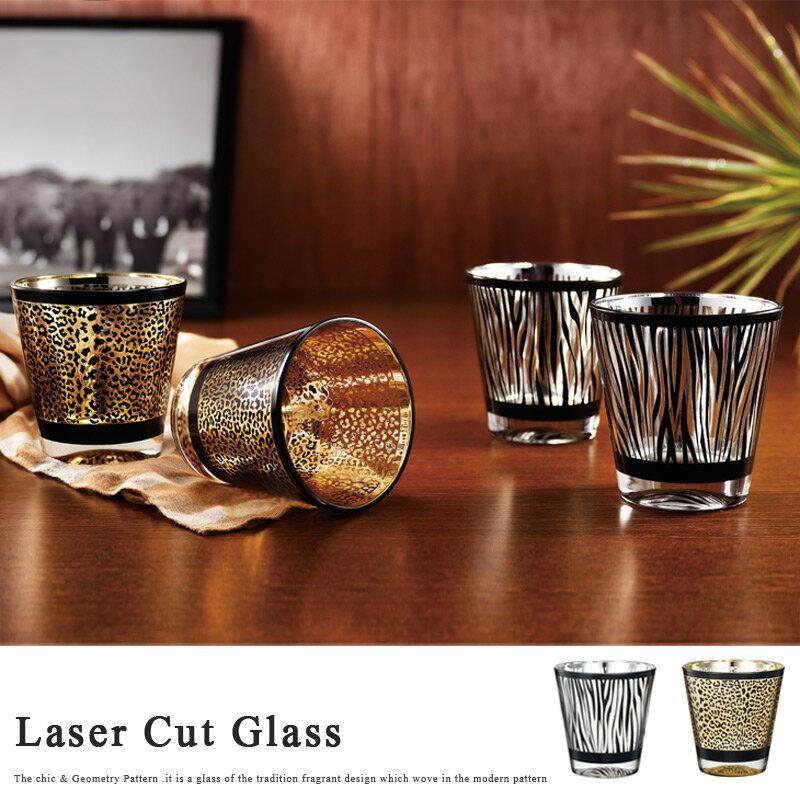 【全品 送料無料 】グラス アニマル レザー グラス コップ ゼブラ 豹柄 パンサー シマウマ ガラス 縞 硝子 ビードロ びーどろ ギフト プレゼント デザイン おしゃれ 博多びーどろ