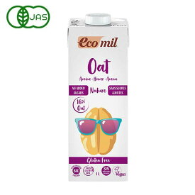 EcoMil(エコミル) 有機 オーツ麦ミルク グルテンフリー(糖類無添加) 1000ml