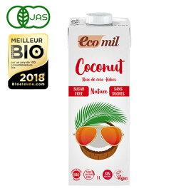 EcoMil(エコミル) 有機ココナッツミルク ストレート(無糖) 1000ml