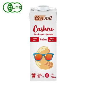 EcoMil(エコミル) 有機 カシューナッツミルク(無糖) 1000ml
