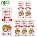 EcoMil(エコミル) 有機ココナッツ&アーモンドミルク ストレート(無糖) 1000ml×6本