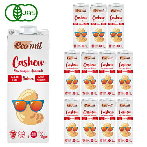EcoMil(エコミル) 有機 カシューナッツミルク(無糖) 1000ml×12本