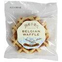 【6個セット】 クロスロード 国産小麦のベルギーワッフル バター