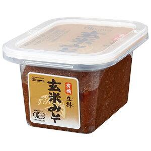 オーサワジャパン 有機立科玄米みそ 300g(カップ)