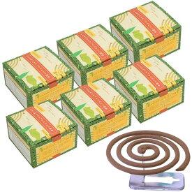 かえる印のナチュラルかとり線香 30巻入×6箱(ギフト包装なし)