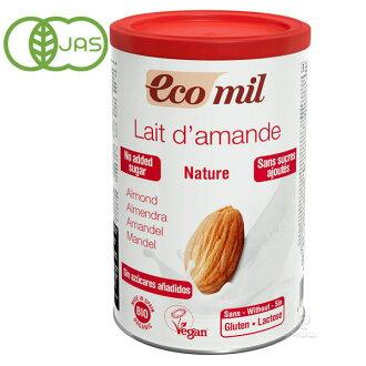 西非西非有機杏仁牛奶粉和糖 400 克有機糖免費非添加劑杏仁牛奶。