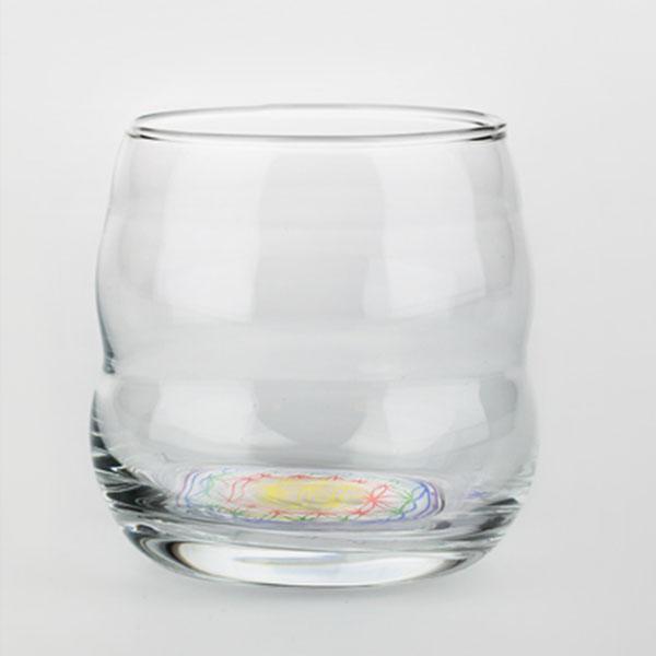 Nature's Design/ネイチャーズデザイン ミソス・ハッピーグラス 1個 コップ ガラス ガラスコップ おしゃれ 吹きガラス グラス 活性水 ガラスグラス ギフト ぐらす 食器 高波動 北欧