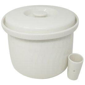 森修焼(しんしゅうやき) ぬか漬け容器 「有用微生物のハーモニー」 (水抜きコップ付き)