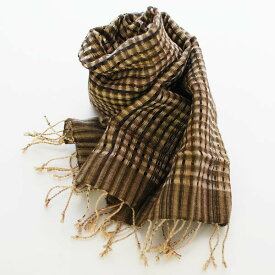 タイ王国の草木染めコットンスカーフ(D色)
