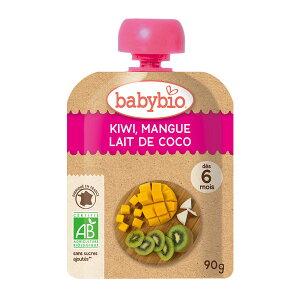 baby bio 有機ベビースムージー キウイ・マンゴー・ココナッツ 90g