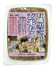 含小島食品有機黑豆的糙米糯米小豆飯160g