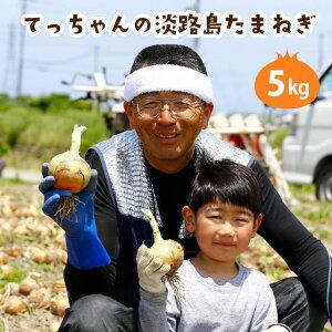 【送料無料】てっちゃんの淡路島たまねぎ5kg/2021年収穫!! 淡路島玉ねぎ 淡路島タマネギ 玉ねぎ たまねぎ タマネギ 玉葱