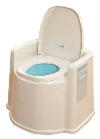 [ポータブルトイレ] 幸和製作所 テイコブポータブルトイレ(肘掛付) PT02【送料無料】