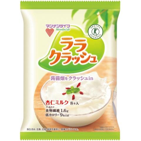 マンナンライフ 蒟蒻畑 ララクラッシュ 杏仁ミルク 8個[蒟蒻畑 蒟蒻ゼリー] (応)