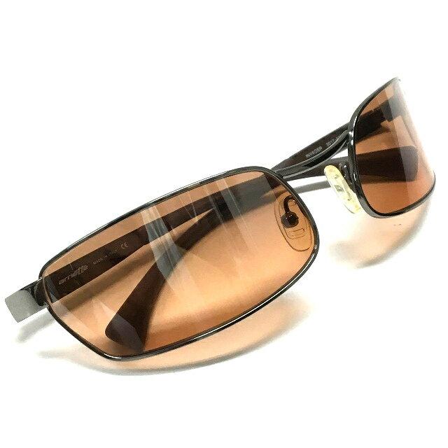 アーネット arnette INVADER メタルフレーム サングラス メガネ 眼鏡 ブラウン 茶 SSAW メンズ 【中古】【ベクトル 古着】 170910 VECTOR×Refine