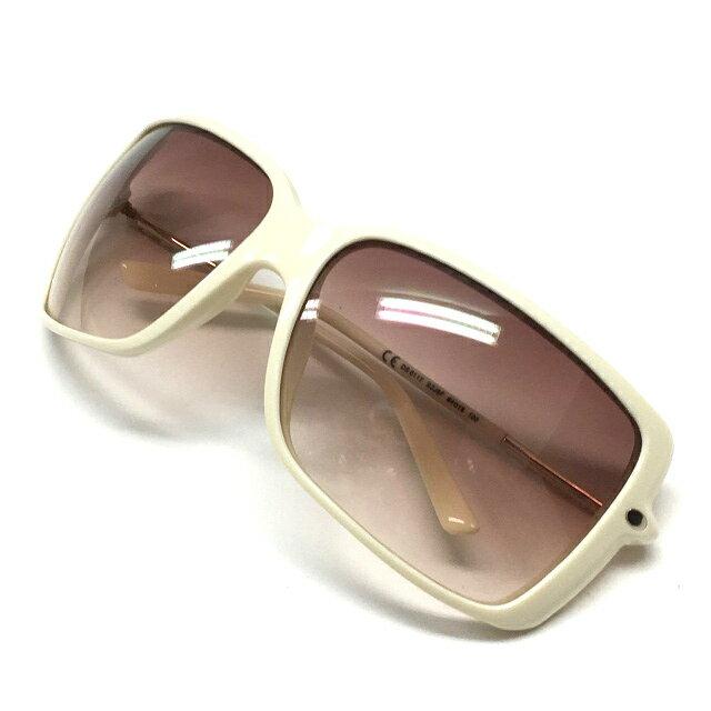 ディーゼル DIESEL DS0117 SZJ5F サングラス メガネ 眼鏡 64□15 120 アイボリー 白系 春夏 レディース 【中古】【ベクトル 古着】 171117 VECTOR×Refine