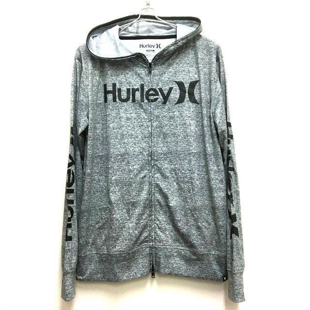 ハーレー Hurley 2017年モデル サーフラッシュガード フルジップパーカー 長袖 M グレー 灰 春夏 メンズ 【中古】【ベクトル 古着】 171125 VECTOR×Refine