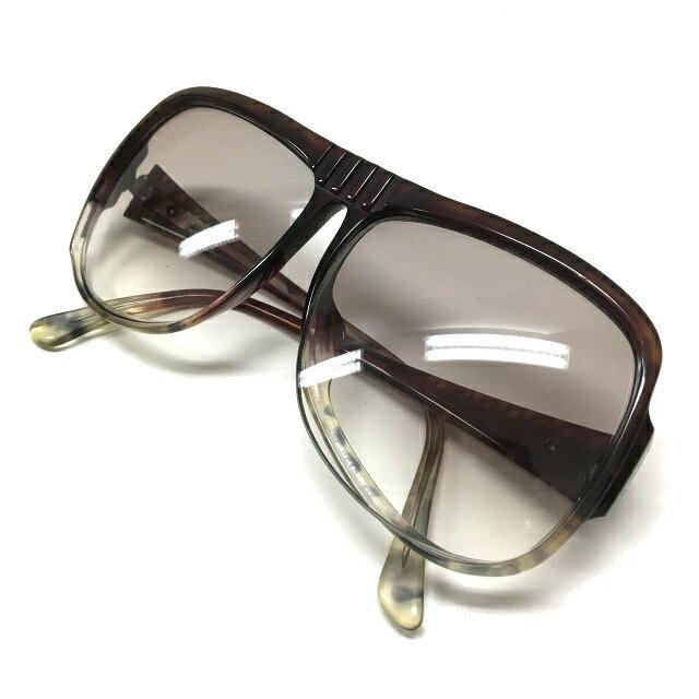 イヴサンローラン YVES SAINT LAURENT ビッグフレーム サングラス 眼鏡 メガネ 3-900 ブラウン系 茶 春夏 メンズ レディース 【中古】【ベクトル 古着】 171127 VECTOR×Refine