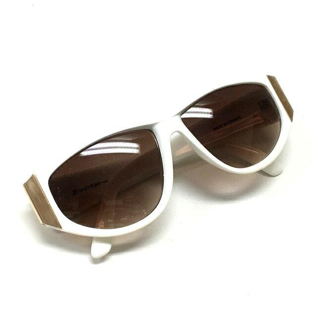 クレージュ courreges フランス製 サングラス 眼鏡 メガネ ホワイト/ブラウン系レンズ 白 SSAW レディース 【中古】【ベクトル 古着】 180618 VECTOR×Refine