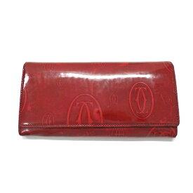 【中古】 カルティエ Cartier 二つ折り 長財布 ウォレット ハッピーバースディ ルビー 赤 SSAW レディース 【ベクトル 古着】 190511