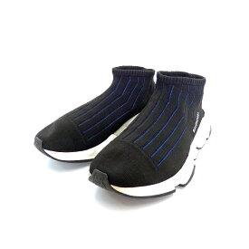 【中古】 バレンシアガ BALENCIAGA スピード トレーナー スニーカー 靴 41 ノアール/ブルー 黒 青 483503W05501007 SSAW メンズ 【ベクトル 古着】 190519