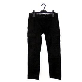 【中古】バーバリーブラックレーベル BURBERRY BLACK LABEL 6ポケット カーゴパンツ ボトムス ストレッチ 79 ブラック 黒 SSAW メンズ 【ベクトル 古着】 191126 VECTOR×Refine
