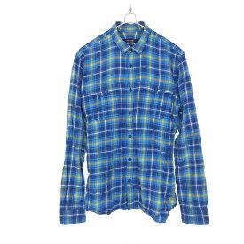 【中古】バーバリーブラックレーベル BURBERRY BLACK LABEL チェック柄 ロングスリーブシャツ トップス 長袖 2 ブルー 青 SSAW メンズ 【ベクトル 古着】 191205 VECTOR×Refine