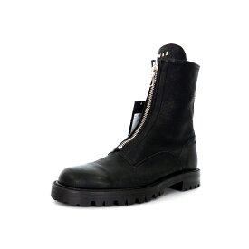 【中古】未使用品 ムーンエイジデビルメント Moonage Devilment フロントZIP ロングブーツ 靴 40 ブラック/シルバー 黒 銀 mfw-0069 秋冬 メンズ 【ベクトル 古着】 200111 VECTOR×Refine