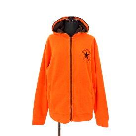 【中古】コンバース CONVERSE フルジップ フリースパーカー ジャケット 長袖 M オレンジ 橙 秋冬 メンズ 【ベクトル 古着】 200125 VECTOR×Refine