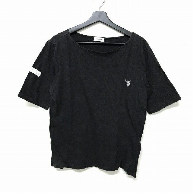 アンダーカバーイズム UNDERCOVERISM 鹿 刺繍 七分袖 Tシャツ カットソー サイトスリット ブラック 黒 2 メンズ 【中古】【ベクトル 古着】 171223 VECTOR×Refine