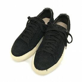 【中古】ヘルムートラング HELMUT LANG 15AW Distressed Suede Sneakers ダメージ加工 ローカット スニーカー ブラック 黒 37 5360202 レディース 【ベクトル 古着】 180410 VECTOR×Refine