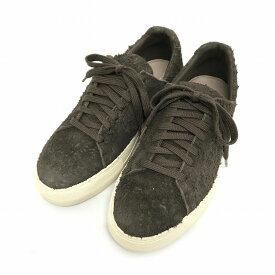【中古】ヘルムートラング HELMUT LANG 15AW Distressed Suede Sneakers ダメージ加工 ローカット スニーカー グレー オリーブ 37 F06HA009 5360202 レディース 【ベクトル 古着】 180410 VECTOR×Refine