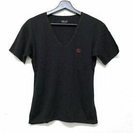 ザ フラットヘッド THE FLAT HEAD R.J.B バックプリント Vネック Tシャツ カットソー 半袖 ブラック 黒 36 メンズ 【中古】【ベクトル 古着】 181117 VECTOR×Refine