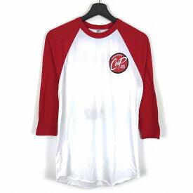 ザ フラットヘッド THE FLAT HEAD GLORY バックプリント 七分袖 Tシャツ カットソー 白 赤 S メンズ 【中古】【ベクトル 古着】 181123 VECTOR×Refine